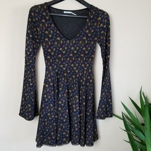 Kimchi Blue Belle Sleeve Fit and Flare Dress Sz XS